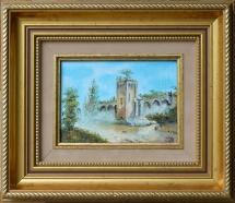 la Tour des Pins avec reconstitution des remparts 11,5 X 16,5 Copie d'un artiste inconu